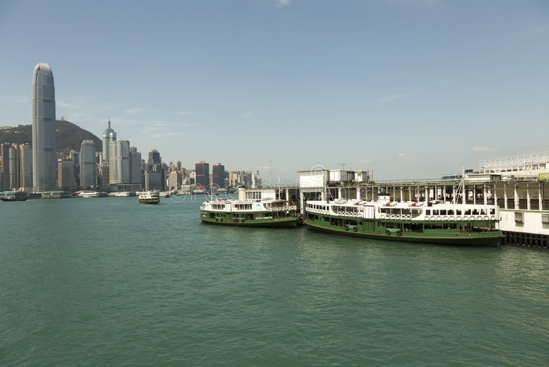 Hong Kong Star-Fährhafen lizenzfreie stockbilder