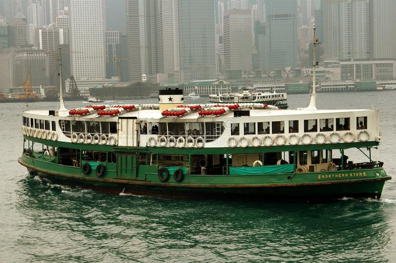 Hong Kong: Star Ferry Crossing Victoria Harbour Editorial Stock Photo