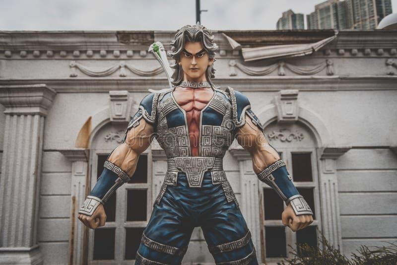 Hong Kong - statue de caractère d'anime photos libres de droits