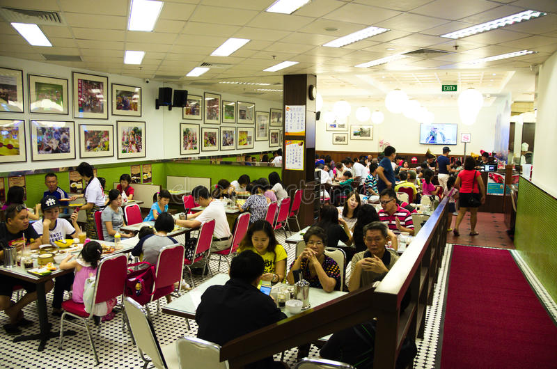 Hong Kong-stijlrestaurant stock foto's
