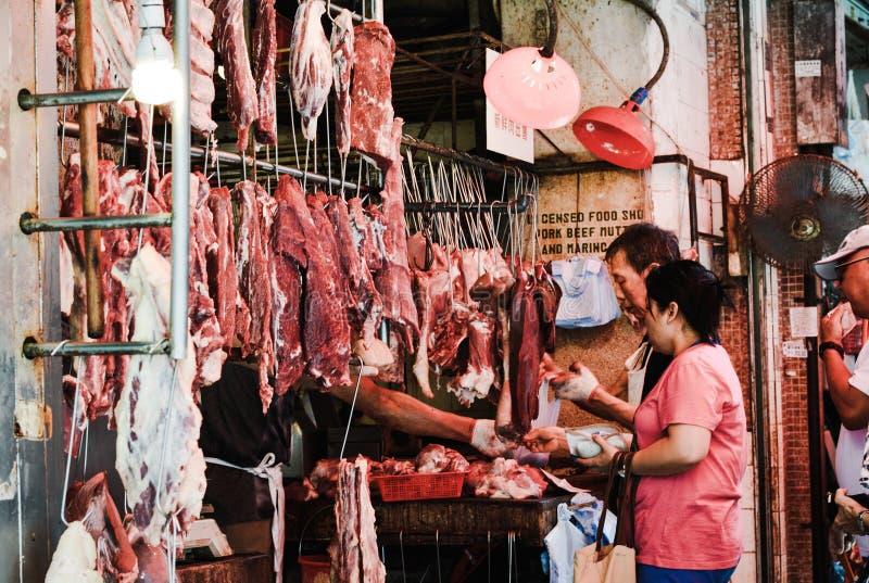 Hong Kong-straatmarkt royalty-vrije stock foto