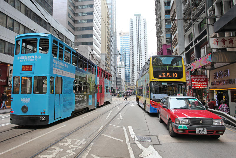 Hong Kong street traffic royalty free stock image