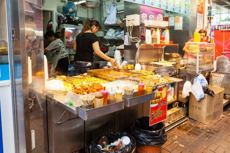 Hong Kong Street Vendor fotografía de archivo