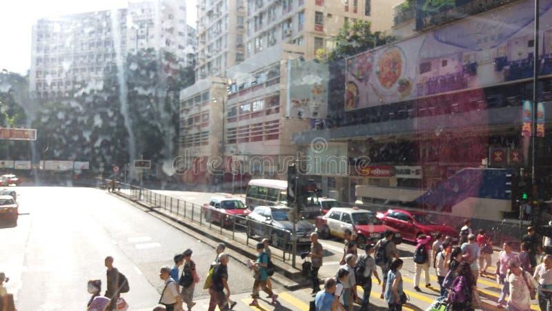 Hong kong street view royalty free stock photo