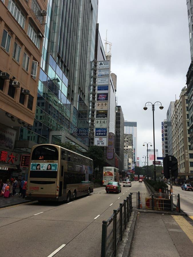 Hong kong street view stock images