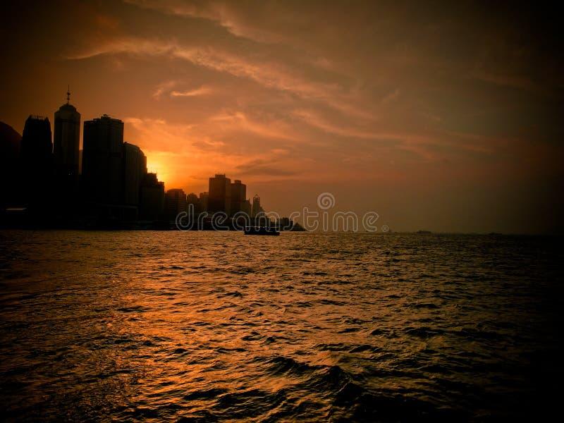 Hong kong sunsest zdjęcia royalty free