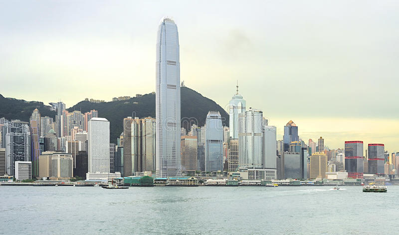 Download Hong Kong at sunset stock photo. Image of image, china - 26490968