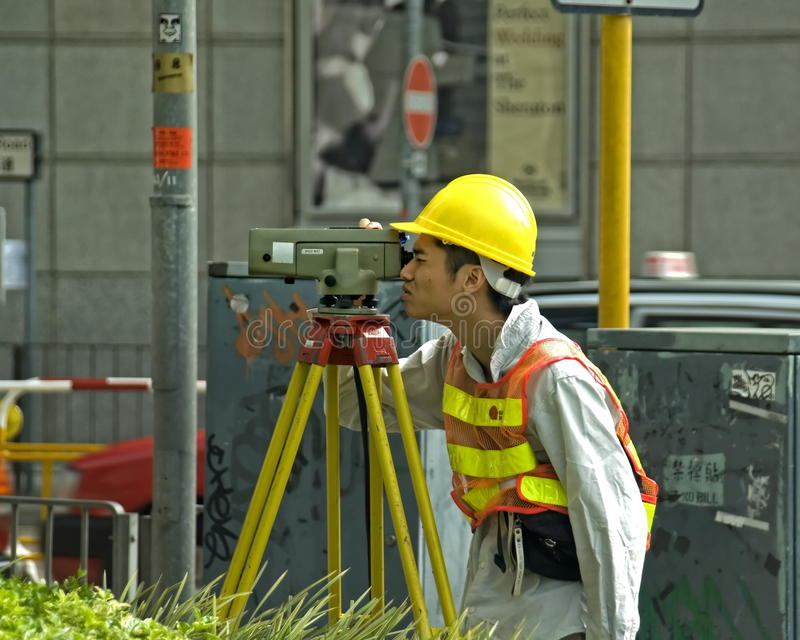 Hong Kong Surveyor stock afbeeldingen