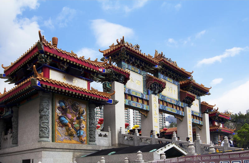 Hong Kong synda tai-wong royaltyfri foto
