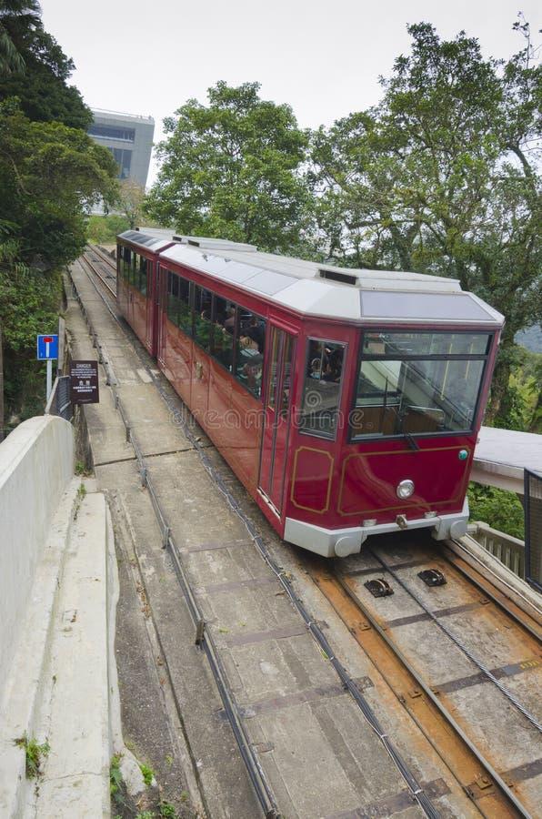 Hong Kong Szczytowy tramwaj zdjęcie stock