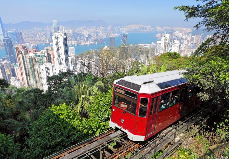 hong kong szczytu tramwaj obraz royalty free