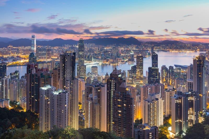 hong kong szczytu tramwaj zdjęcie stock