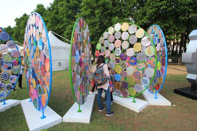 Hong Kong sztuki w Parkowym ostatki wydarzeniu 2014 fotografia stock