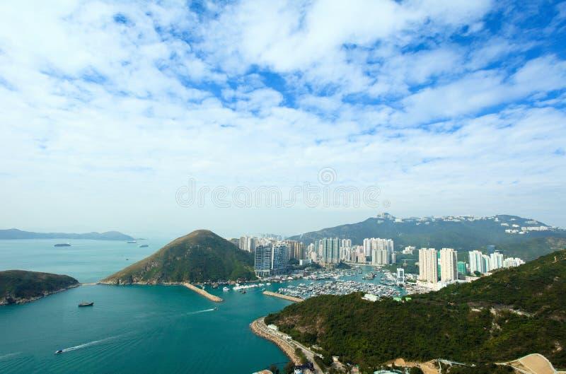 Hong Kong tajfunu schronienia jachtu klub obrazy royalty free