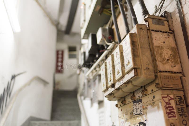 Hong Kong Tenement House Stairs lizenzfreie stockfotografie