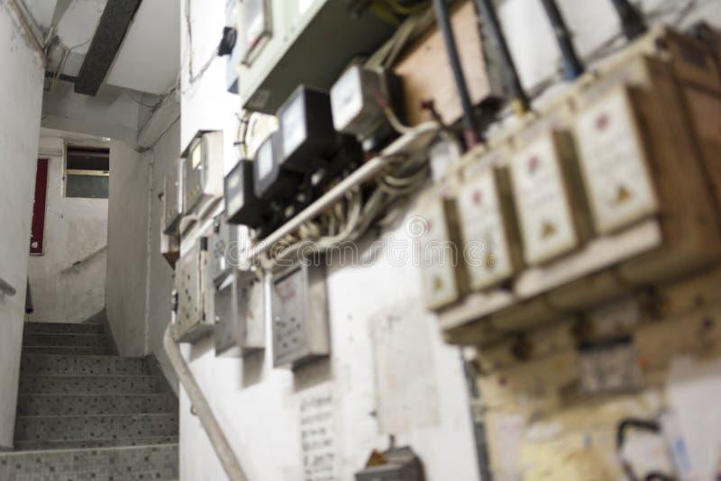 Hong Kong Tenement House Stairs lizenzfreie stockbilder