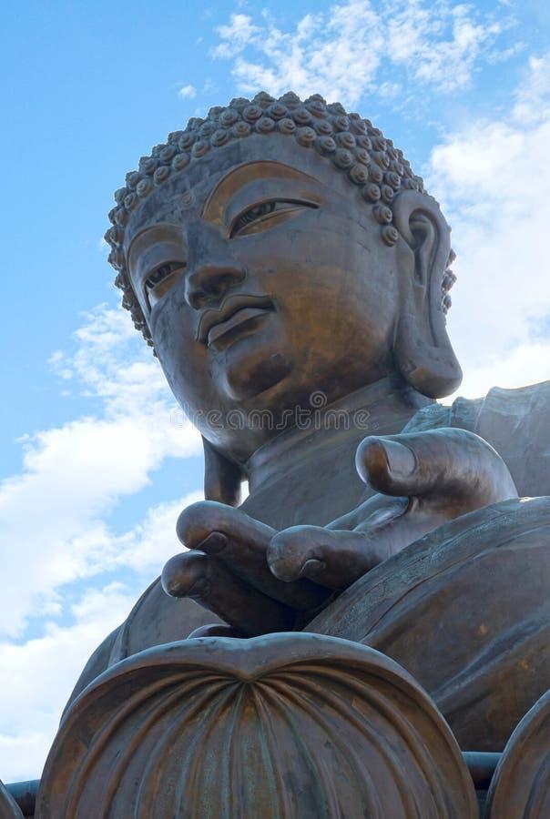 Hong Kong Tian Tan Buddha-Standbeeld royalty-vrije stock fotografie