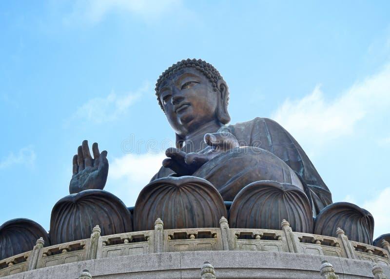 Hong Kong Tian Tan Buddha-Standbeeld royalty-vrije stock foto's