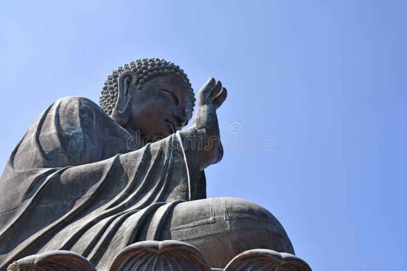 Hong Kong Tian Tan Buddha-Standbeeld stock foto's