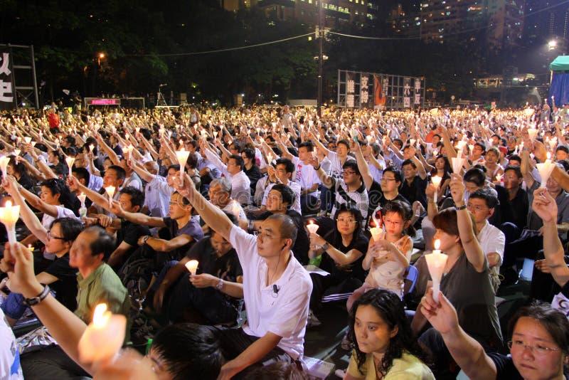 hong kong tiananmen vigil стоковая фотография rf