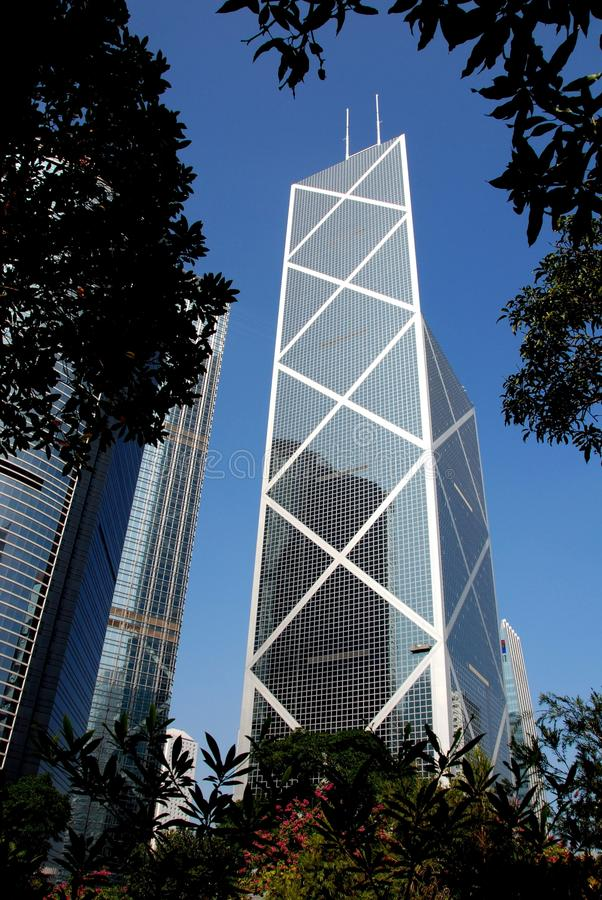 Hong Kong : Tour de la Banque de Chine images libres de droits