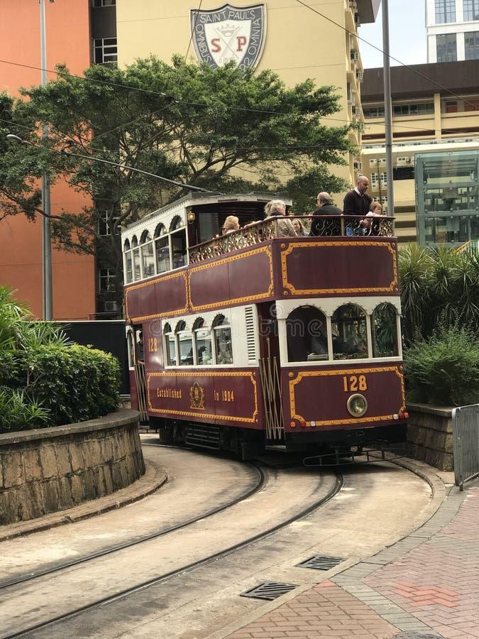 Hong Kong Tourist Tramway stock afbeelding