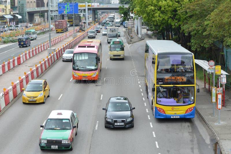 hong kong traffic στοκ εικόνα