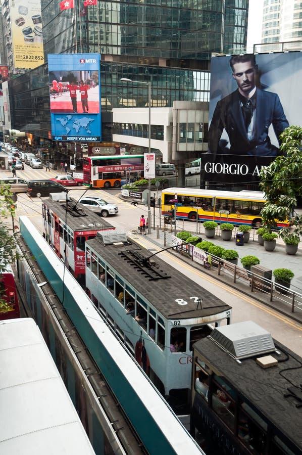 Hong Kong trafik fotografering för bildbyråer