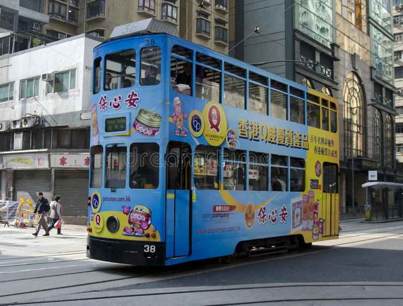 Hong Kong Tram stock images