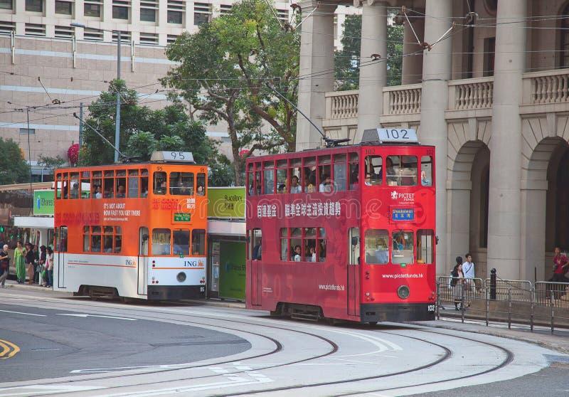 Hong Kong Tram fotografie stock libere da diritti