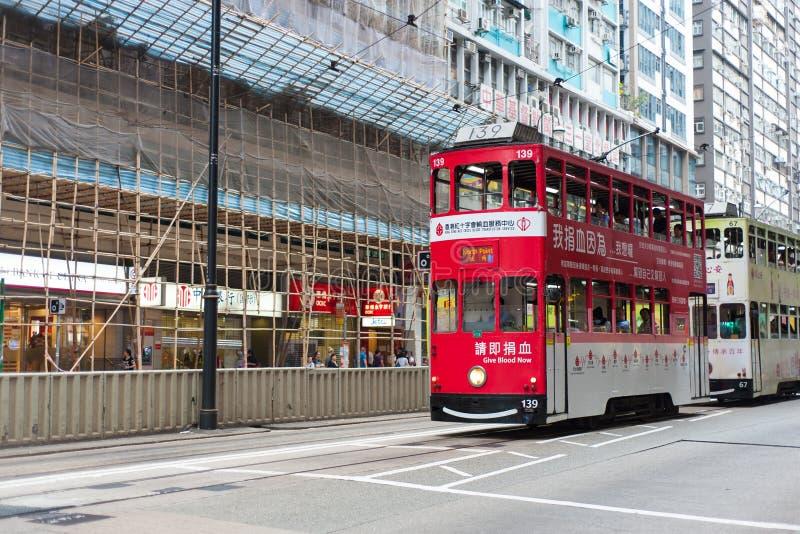 Hong Kong Tramways Ding Ding arkivbilder