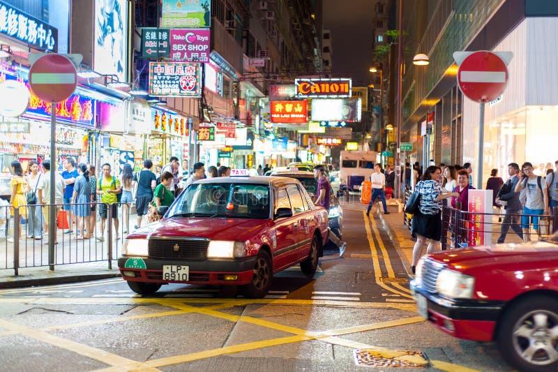 Hong Kong Tsim Sha Tsui natt arkivfoton