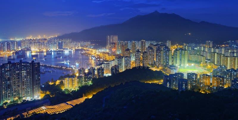Hong Kong Tuen Mun linia horyzontu i chiny południowi morze obraz stock