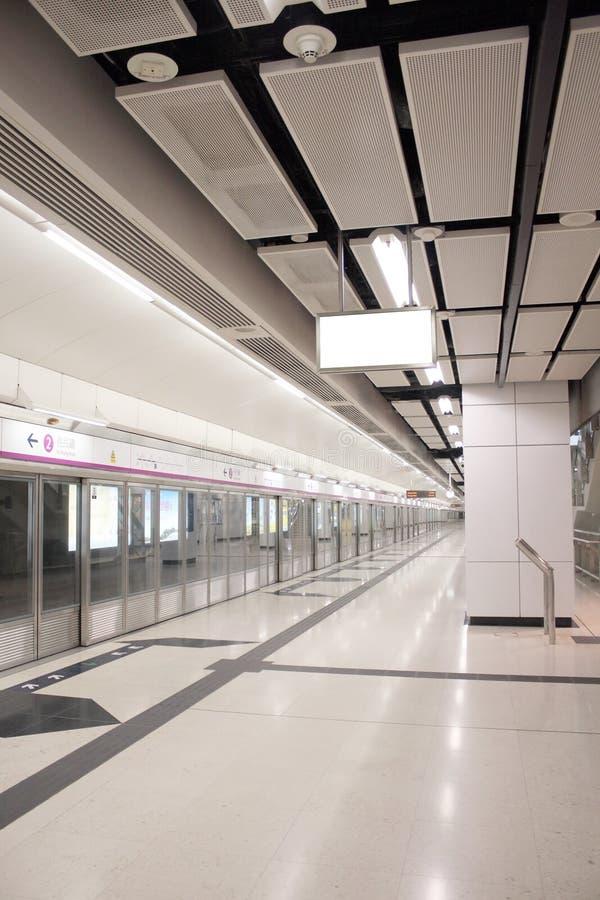Hong Kong tunnelbana royaltyfri fotografi
