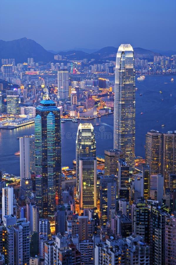 Download Hong Kong At Twilight Vertical Stock Image - Image: 25793809