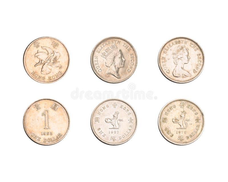 Hong Kong une collection de pièces de monnaie du dollar photo libre de droits