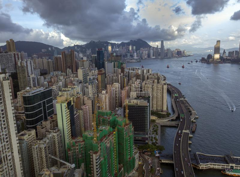 Hong Kong van het gebied van het het Noordenpunt stock afbeeldingen