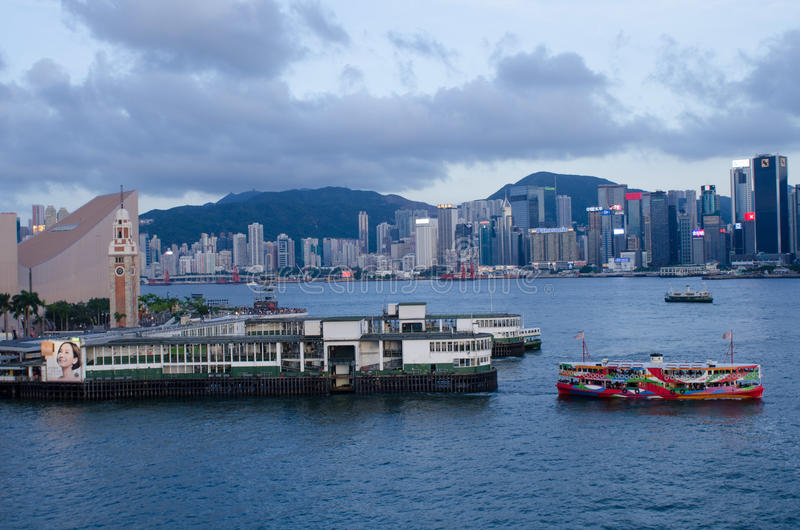 Hong Kong, Victoria-Hafen stockfotos
