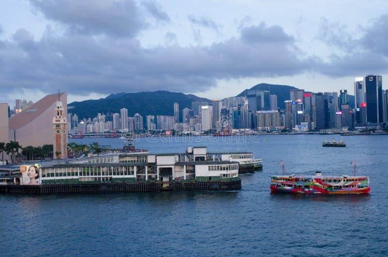 Hong Kong victoria hamn arkivfoton