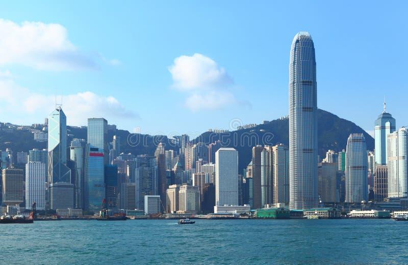 Hong Kong Victoria harbor. At day time stock photo