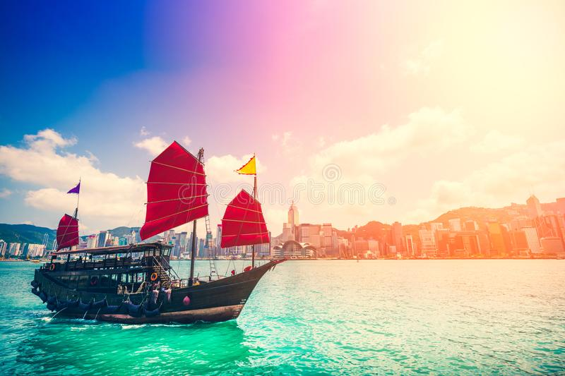 Hong Kong Victoria Harbor day and night. Hong Kong Victoria Harbor, photo token with Canon 5D mark III royalty free stock photos