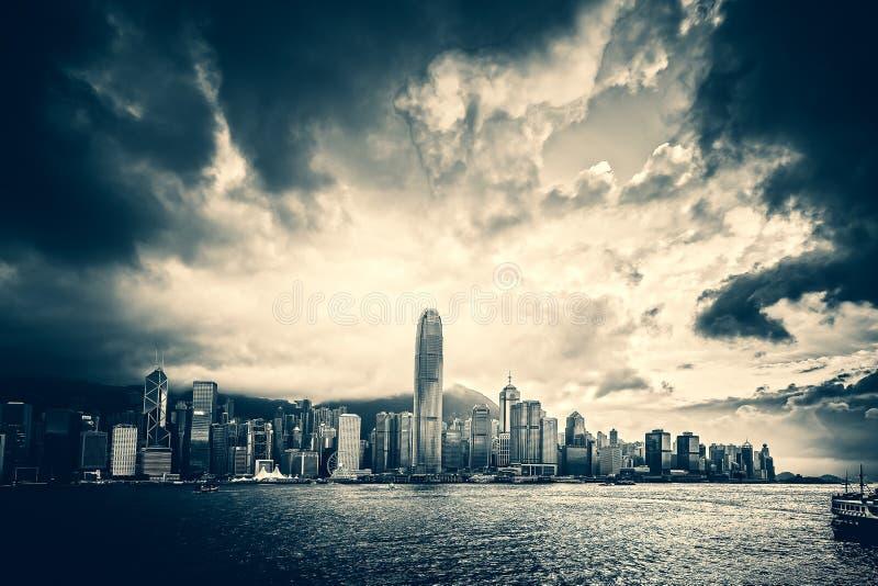 Hong Kong Victoria Harbor day and night. Hong Kong Victoria Harbor, photo token with Canon 5D mark III royalty free stock photos