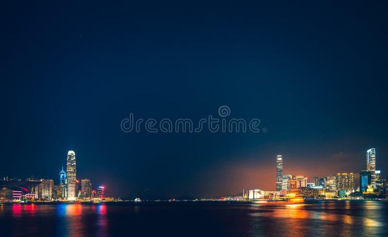Hong Kong Victoria Harbor day and night. Hong Kong Victoria Harbor, photo token with Canon 5D mark III royalty free stock image