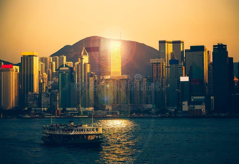 Hong Kong Victoria Harbor day and night. Hong Kong Victoria Harbor, photo token with Canon 5D mark III royalty free stock photography