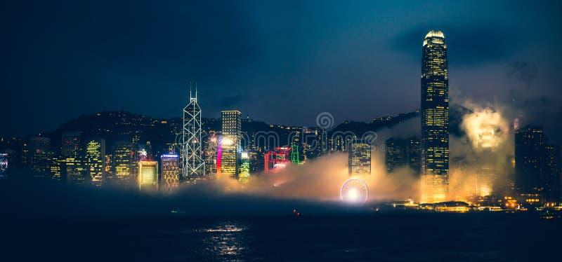 Hong Kong Victoria Harbor day and night. Hong Kong Victoria Harbor, photo token with Canon 5D mark III stock photography