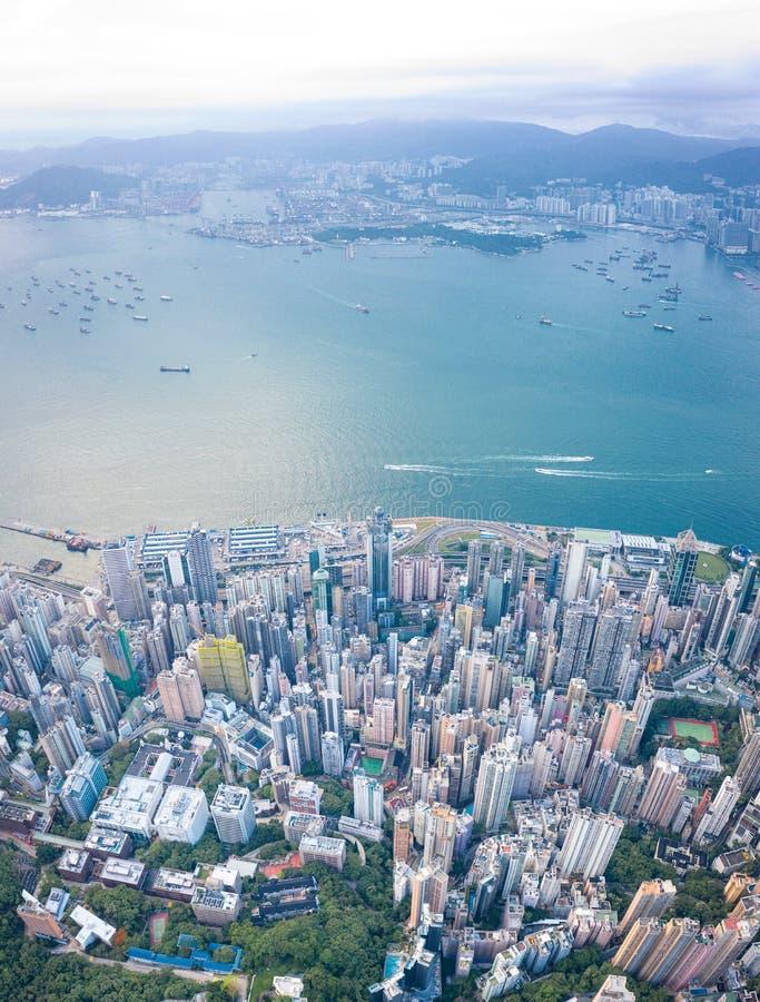 Hong Kong Victoria Harbor at daytime. Hong Kong Victoria Harbor daytime stock image