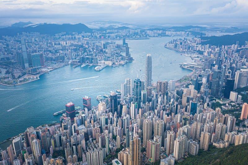 Hong Kong Victoria Harbor at daytime. Hong Kong Victoria Harbor daytime royalty free stock photo