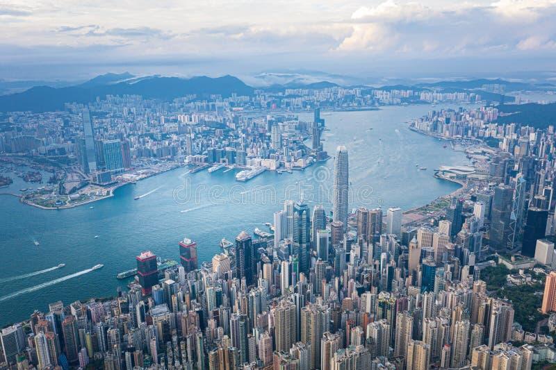 Hong Kong Victoria Harbor at daytime. Hong Kong Victoria Harbor daytime royalty free stock image