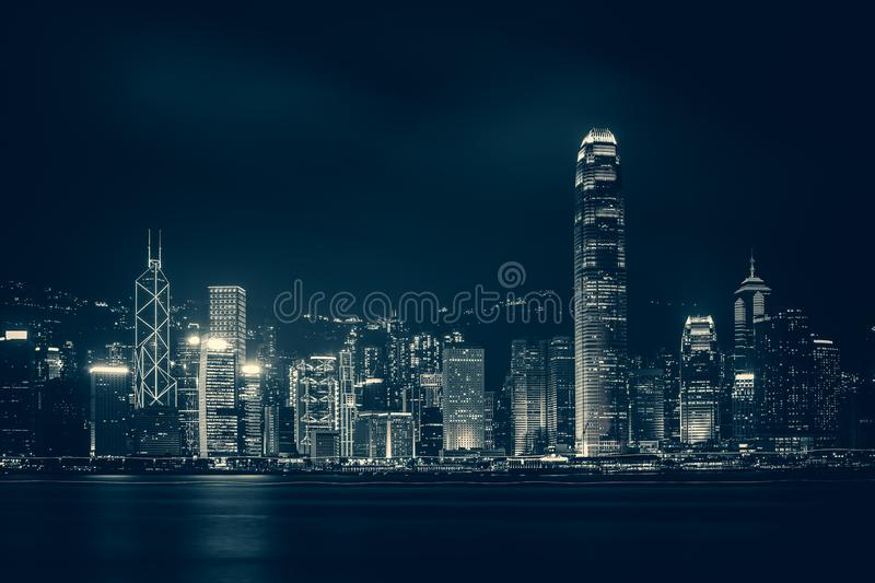 Hong Kong Victoria Harbor day and night. Hong Kong Victoria Harbor, photo token with Canon 5D mark III stock photos