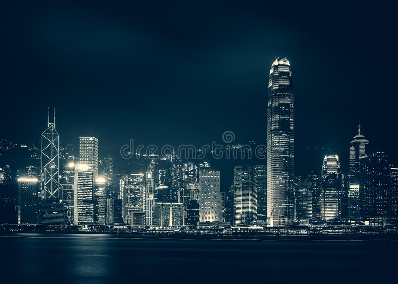 Hong Kong Victoria Harbor day and night. Hong Kong Victoria Harbor, photo token with Canon 5D mark III royalty free stock image